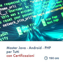 Master Programmazione PHP Java CMS Android
